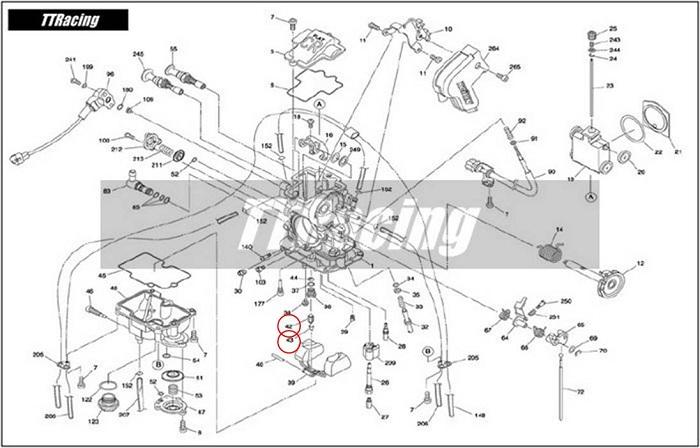 Agulha da Bóia Carburador CR-FLAT MX  - T & T Soluções
