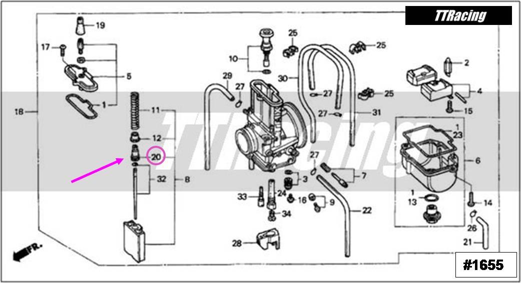 Trava Cabo Acelerador Carburador MIKUNI TMX  - T & T Soluções
