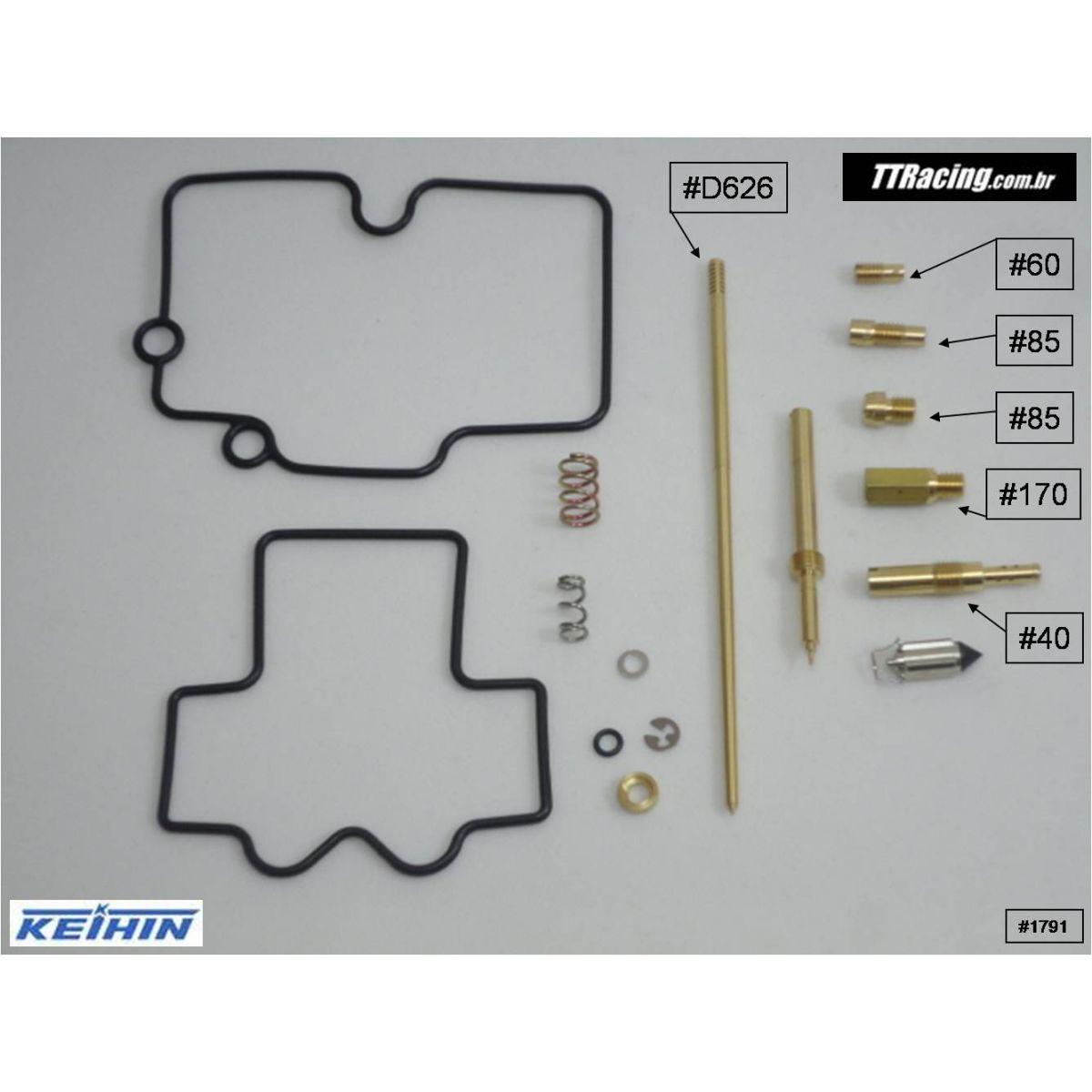 Reparo carburador Keihin CR FLAT FCR-MX PREPARADOR  - T & T Soluções