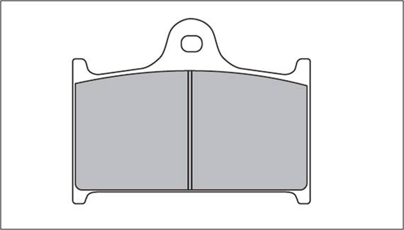 Kit pastilha de freio DIANTEIRA SUZUKI RF900 todas  - T & T Soluções