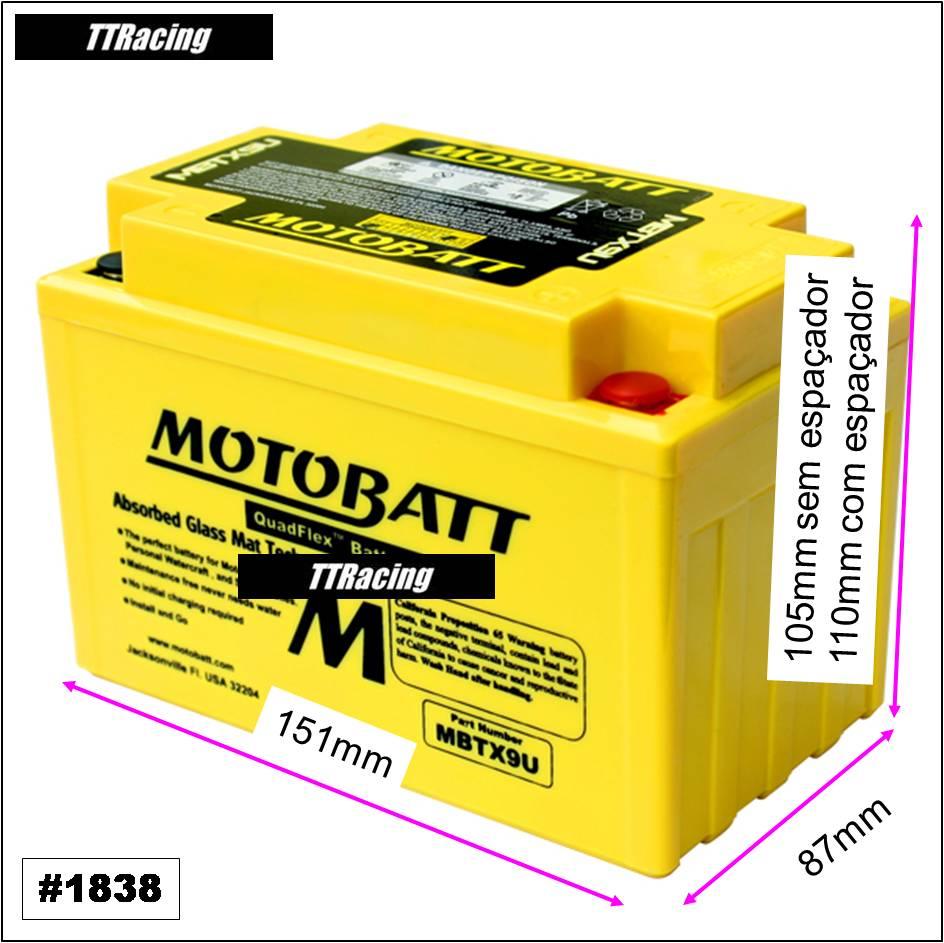 Bateria MOTOBATT MBTX9U  - T & T Soluções