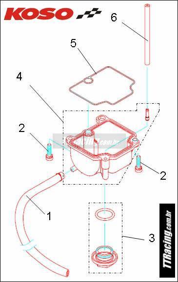 Kit parafuso fixação da cuba c/02 peças  - T & T Soluções