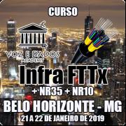Belo Horizonte - MG - Curso Infraestrutura FTTx + NR35 + NR10