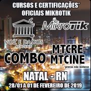Natal - RN - COMBO - Cursos e Certificações Oficiais Mikrotik - MTCRE + MTCINE