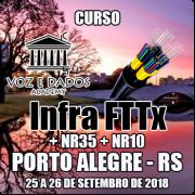 Porto Alegre - RS - Curso Infra FTTx + NR35 + NR10