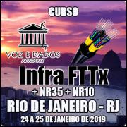 Rio de Janeiro - RJ - Curso Infraestrutura FTTx + NR35 + NR10