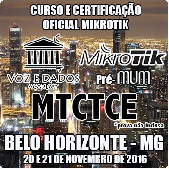 Belo Horizonte - MG - Curso e Certifica��o Oficial Mikrotik - MTCTCE