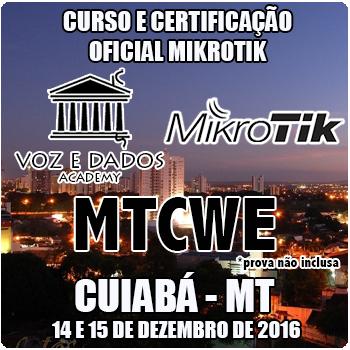 Cuiabá - MT - Curso e Certificação Oficial Mikrotik - MTCWE