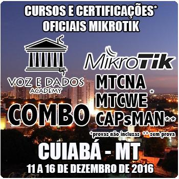 Cuiabá - MT - COMBO Curso e Certificações Oficiais Mikrotik MTCNA + MTCWE e Módulo CAPsMAN