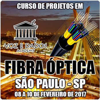 São Paulo - SP - Curso de Projetos em Fibra Óptica