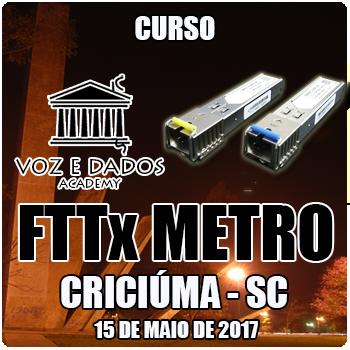 Criciúma - SC - Curso de FTTx Metro