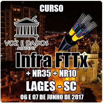 Lages - SC - Curso Infra FTTx + NR35 + NR10