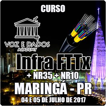 Maringá - PR - Curso Infra FTTx + NR35 + NR10