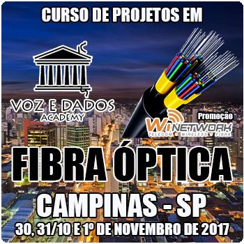 Campinas - SP - Curso de Projetos em Fibra Óptica  - Voz e Dados