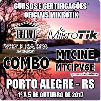 Porto Alegre - RS - COMBO - Cursos e Certificações Oficiais Mikrotik - MTCINE e MTCIPV6E