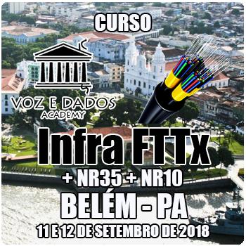 Belém - PA - Curso Infra FTTx + NR35 + NR10