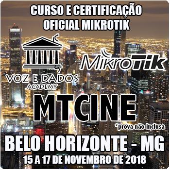 Belo Horizonte - MG - Curso e Certificação Oficial Mikrotik - MTCINE  - Voz e Dados