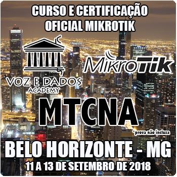 Belo Horizonte - MG - Curso e Certificação Oficial Mikrotik - MTCNA