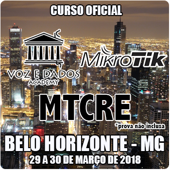Belo Horizonte - MG - Curso e Certificação Oficial Mikrotik MTCRE