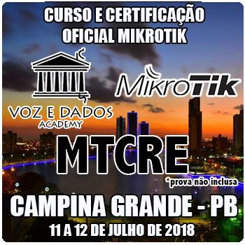 Campina Grande - PB - Curso e Certificação Oficial Mikrotik MTCRE