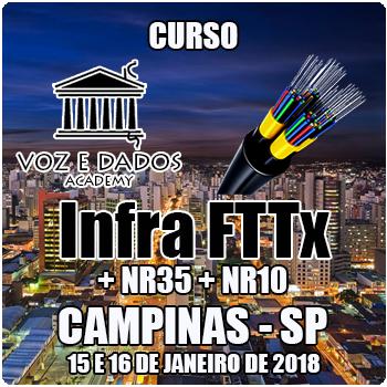 Campinas - SP - Curso Infra FTTx + NR35 + NR10