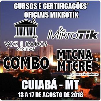 Cuiabá - MT - COMBO - Cursos e Certificações Oficiais Mikrotik - MTCNA e MTCRE