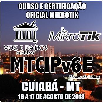 Cuiabá - MT - Curso e Certificação Oficial Mikrotik MTCIPV6E