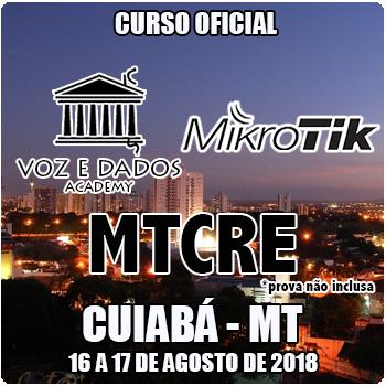 Cuiabá - MT - Curso e Certificação Oficial Mikrotik MTCRE