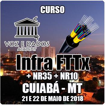 Cuiabá - MT - Curso Infra FTTx + NR35 + NR10