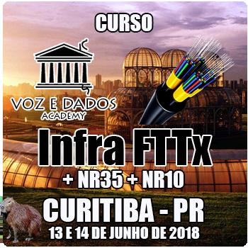 Curitiba - PR - Curso Infra FTTx + NR35 + NR10