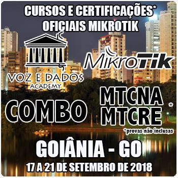 Goiânia - GO - COMBO - Cursos e Certificações Oficiais Mikrotik - MTCNA e MTCRE