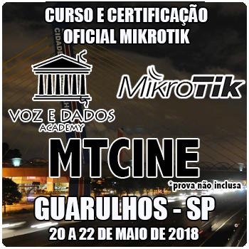 Guarulhos - SP - Curso e Certificação Oficial Mikrotik - MTCINE  - Voz e Dados