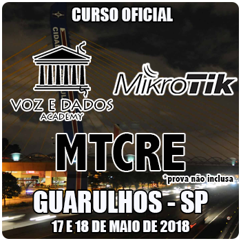 Guarulhos - SP - Curso e Certificação Oficial Mikrotik MTCRE