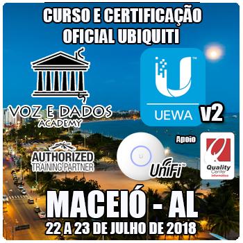 Maceió - AL - Curso e Certificação Ubiquiti UniFi - UEWAv2 - WiFi Avançado