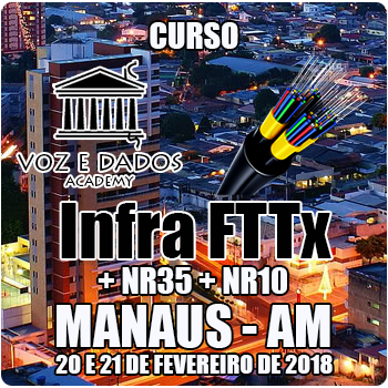 Manaus - AM - Curso Infra FTTx + NR35 + NR10