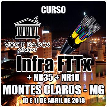 Montes Claros - MG - Curso Infra FTTx + NR35 + NR10
