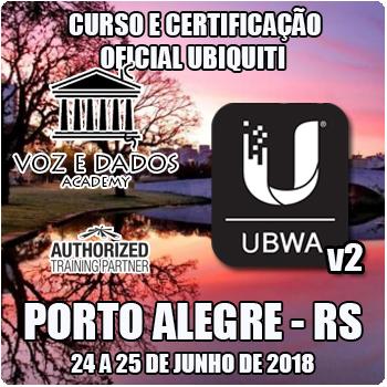Porto Alegre - RS - Curso e Certificação Oficial Ubiquiti - UBWA v2
