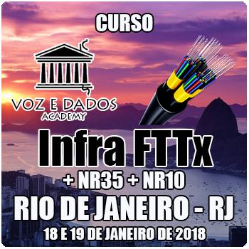 Rio de Janeiro - RJ - Curso Infra FTTx + NR35 + NR10