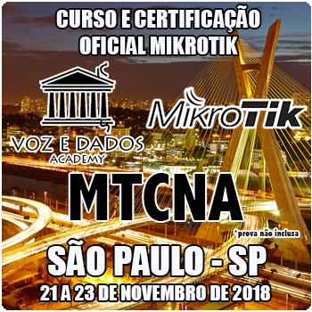 São Paulo - SP - Curso e Certificação Oficial Mikrotik - MTCNA