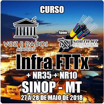 Sinop - MT - Curso Infra FTTx + NR35 + NR10