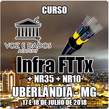 Uberlândia - MG - Curso Infra FTTx + NR35 + NR10