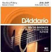 Encordoamento Daddario Violão Aço EJ10-B  010-047