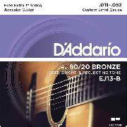 Encordoamento Daddario Violão Aço EJ13B 011-052