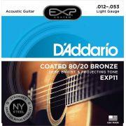 Encordoamento Daddario Violão Aço EXP11  012-053