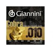 Encordoamento Giannini Cobra 010 para Violão Aço