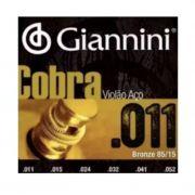 Encordoamento Giannini Cobra 011 para Violão Aço