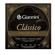 Encordoamento Giannini Violão Nylon Clássico Tensão Extra Pesada