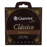 Encordoamento Giannini Violão Nylon Clássico Tensão Leve