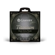 Encordoamento Giannini Violão Nylon Titanium Tensão Extra Pesada