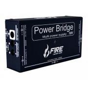 Fonte Para Pedais Fire Power Bridge 18 Preta para 12 pedais